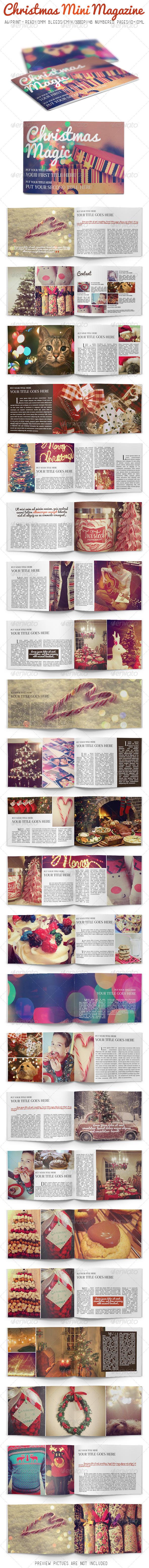 Christmas Mini Magazine - Magazines Print Templates