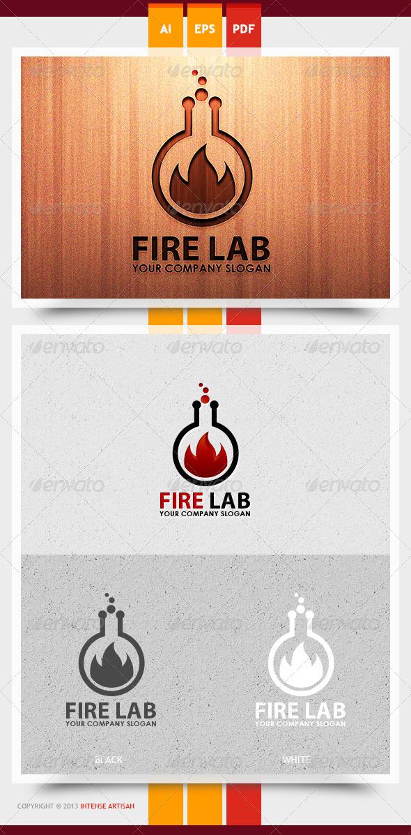 Fire Lab Logo Template - Nature Logo Templates