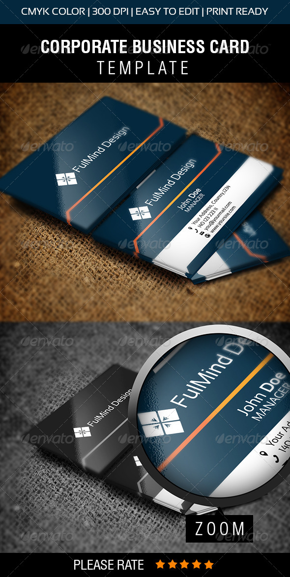 FullMind Design Business Card - Corporate Business Cards