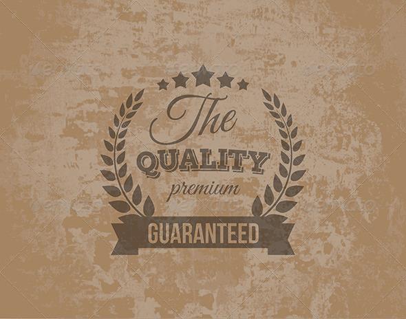 Premium Quality Guarantee Label - Decorative Symbols Decorative