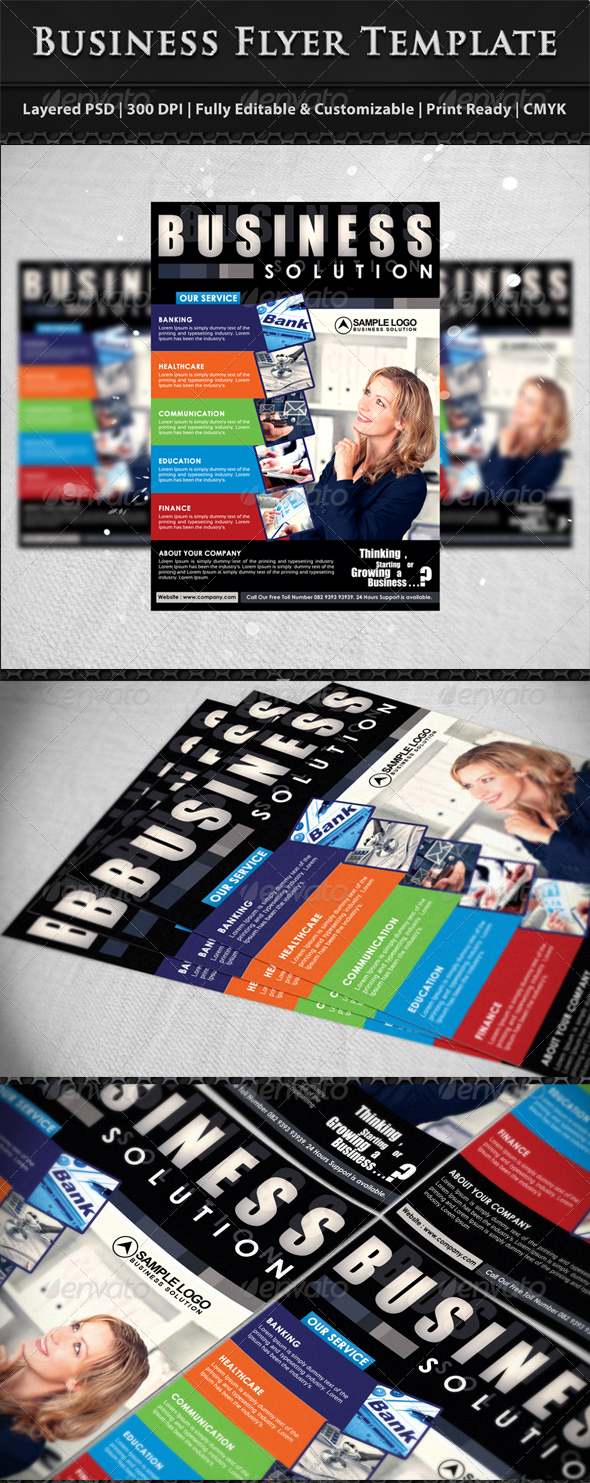 Modern Corporate Business Flyer Template - Corporate Flyers