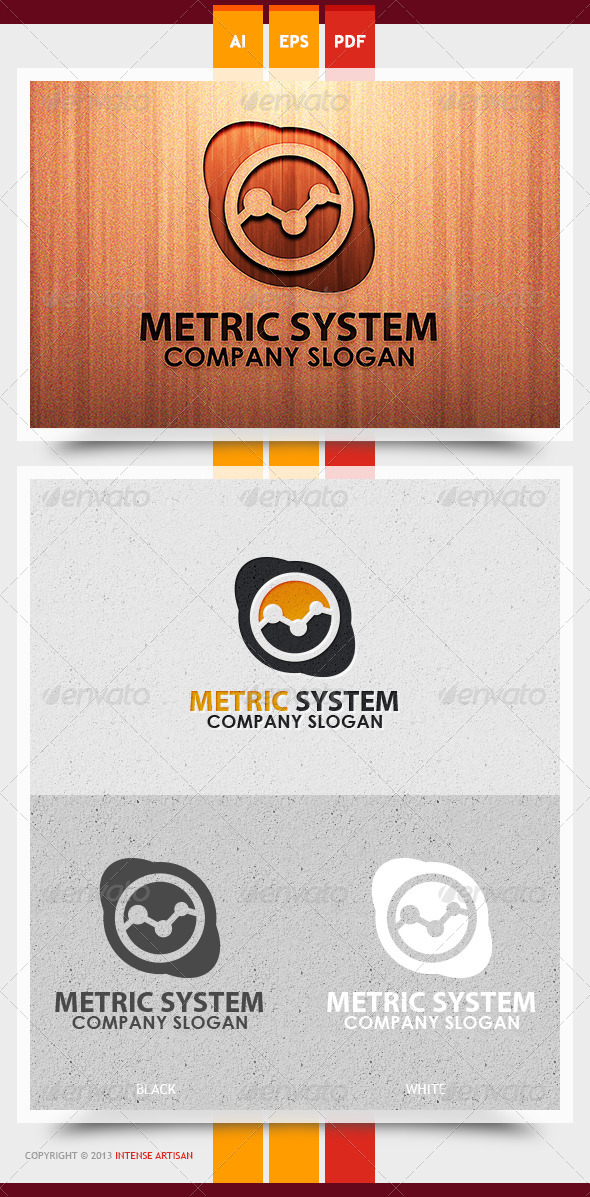 Metric System Logo Template - Objects Logo Templates