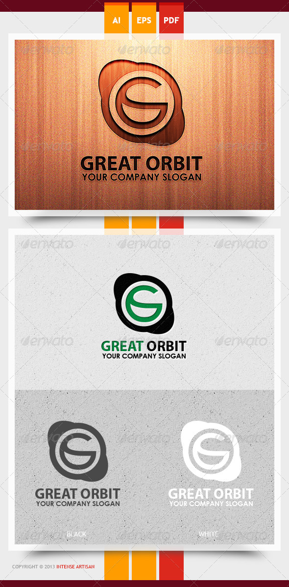 Great Orbit Logo Template - Letters Logo Templates