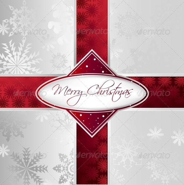 Silver Christmas Background - Christmas Seasons/Holidays