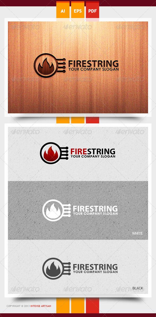 Fire String Logo Template - Nature Logo Templates