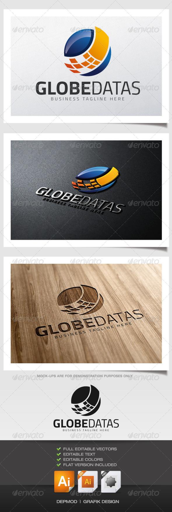 Globe Datas Logo - Abstract Logo Templates