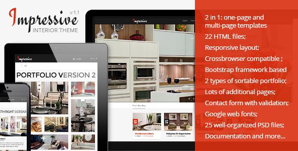 Impressive – Interior Responsive HTML5 Template
