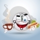 Watch Smiley Enjoying Lunch Break - GraphicRiver Item for Sale