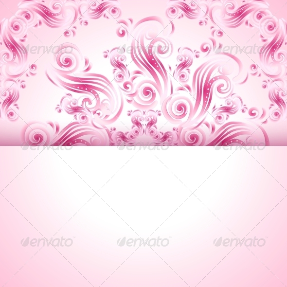 Vintage Background with Swirl Ornaments - Patterns Decorative