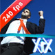 Businessman Crossing The Finish Line - VideoHive Item for Sale
