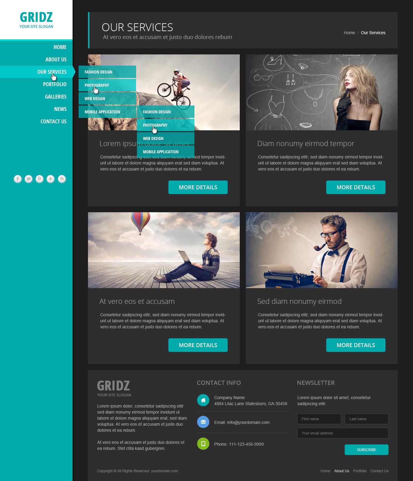 Gridz - Responsive HTML5 Template by pophonic | ThemeForest
