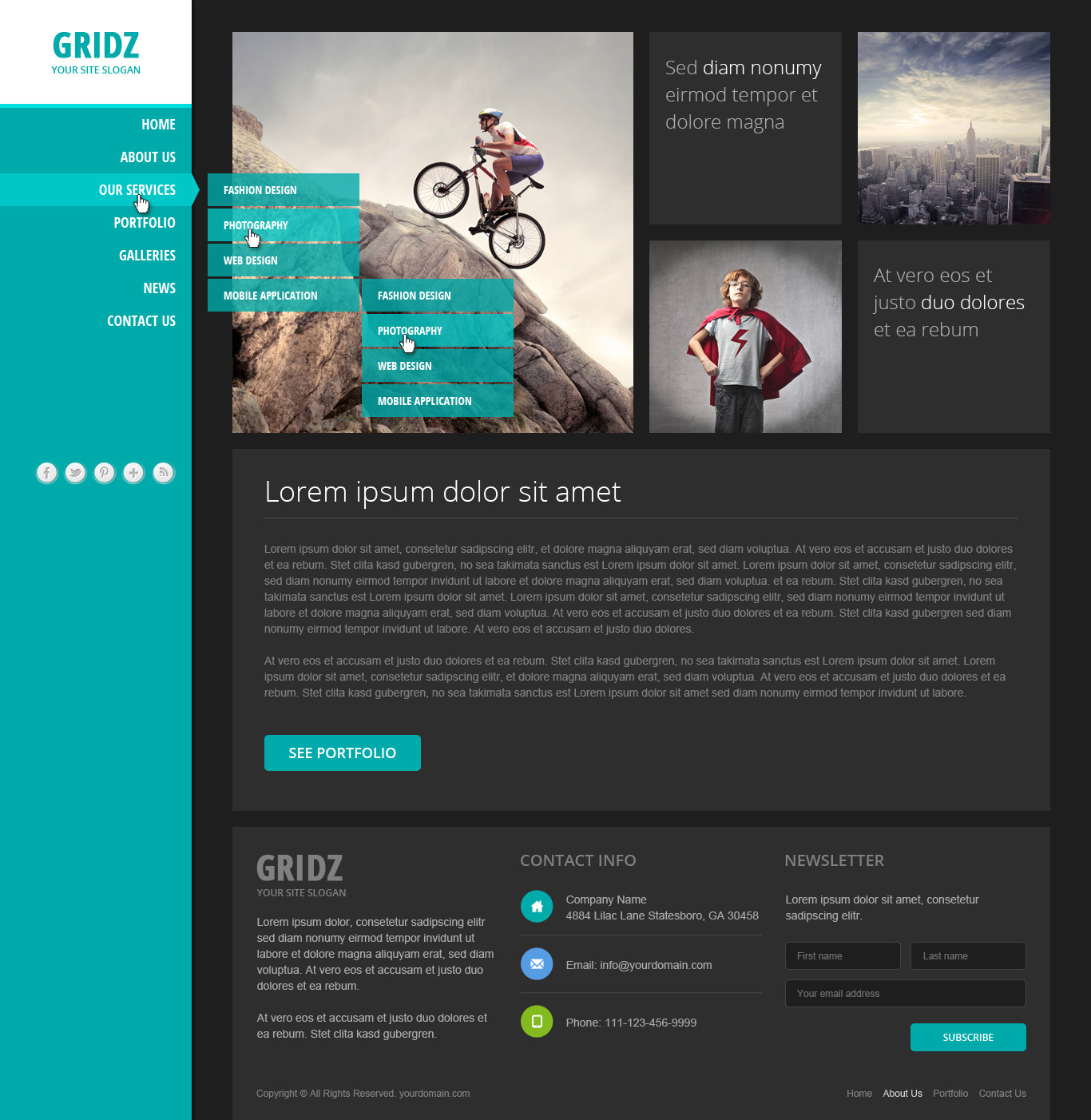Gridz - Responsive HTML5 Template by pophonic | ThemeForest