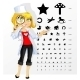 Doctor Ophthalmologist with Children`s Eye Test - GraphicRiver Item for Sale
