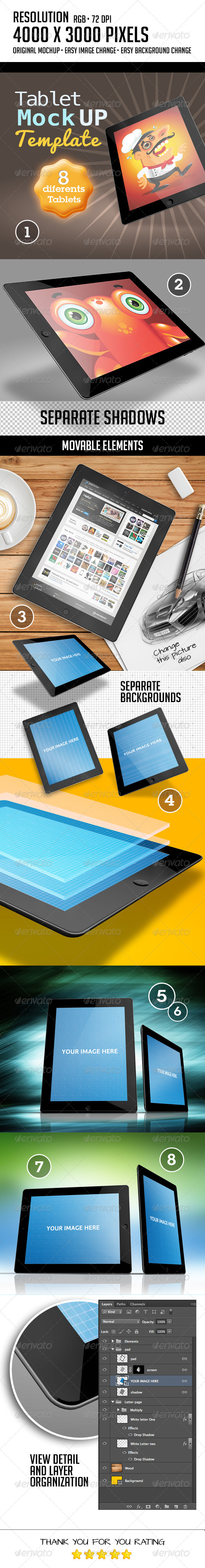 8 Dynamic Pads Muck-Up - Mobile Displays