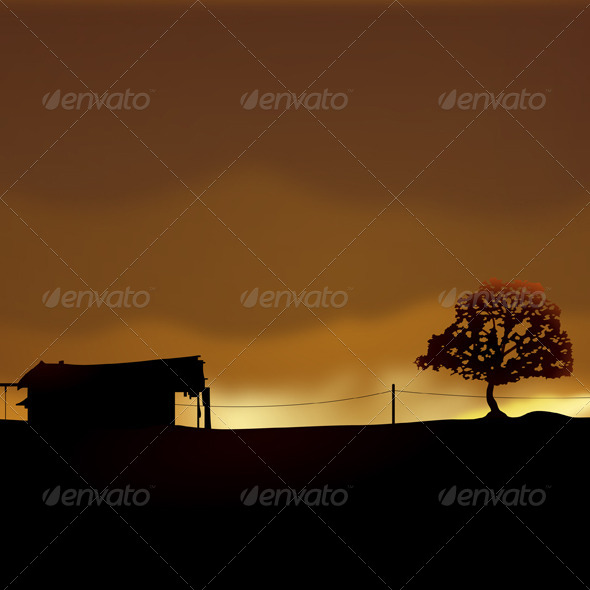 Lonely House - Landscapes Nature