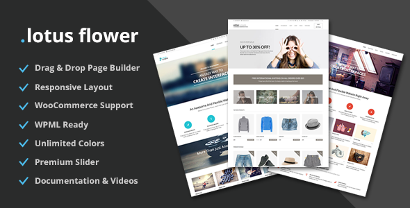 Lotus Flower – Flexible Multi-Purpose Shop Theme