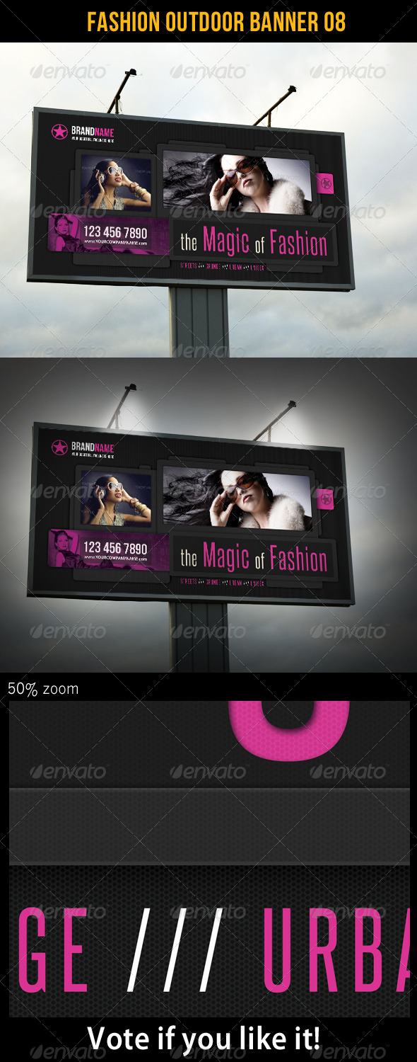 Fashion Outdoor Banner 08 - Signage Print Templates