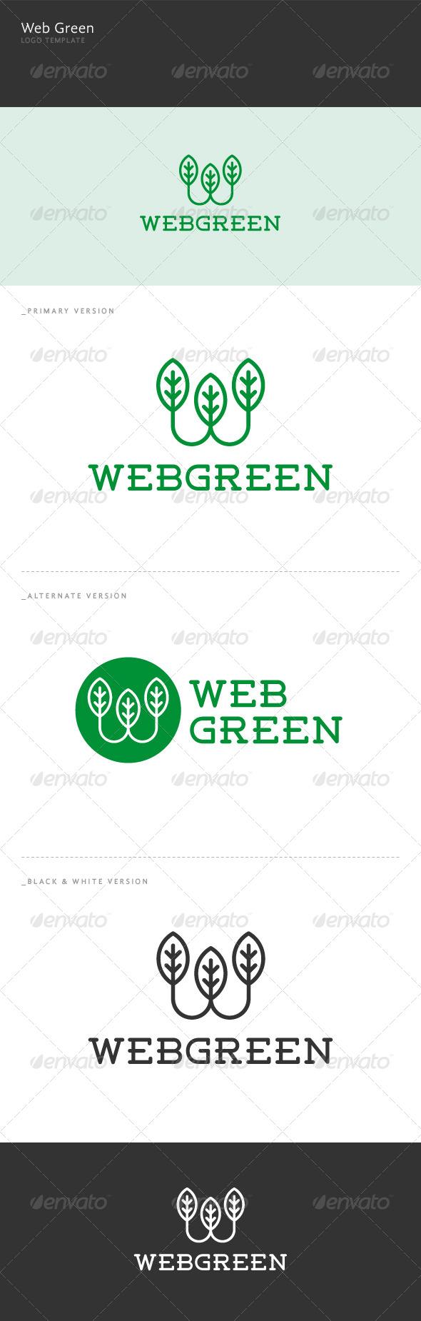 Web Green - W Letter Logo - Letters Logo Templates