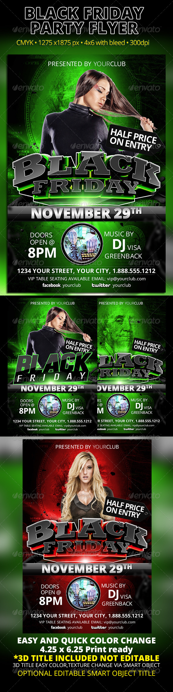 Black Friday Party Flyer - Events Flyers