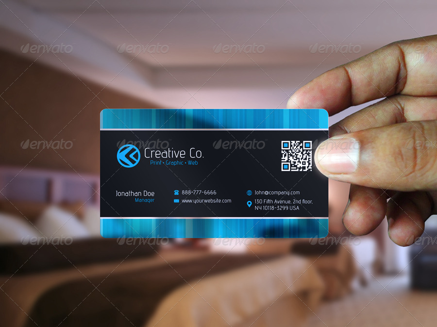 Semi-Transparent business card by VMS-Designs | GraphicRiver