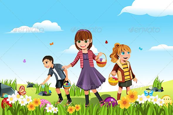 Easter Eggs Hunt - Seasons/Holidays Conceptual