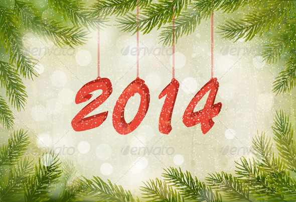 Happy New Year Design Template - Christmas Seasons/Holidays