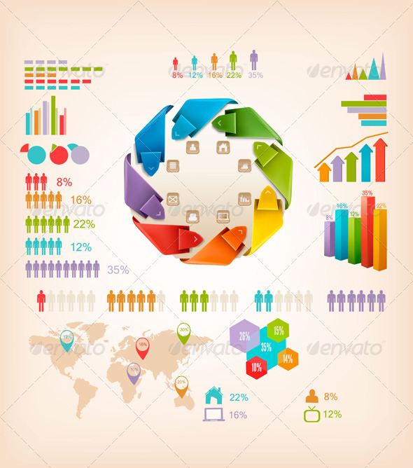Set of Info Graphics Elements - Concepts Business