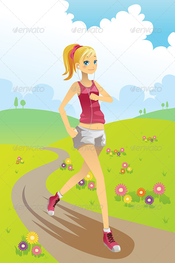 Running Girl - Sports/Activity Conceptual