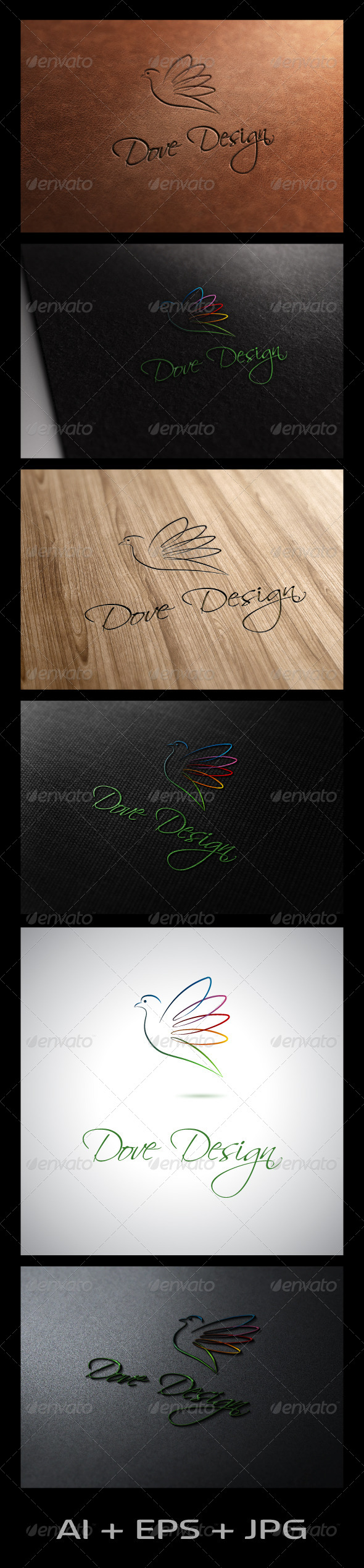 Dove Design - Animals Logo Templates