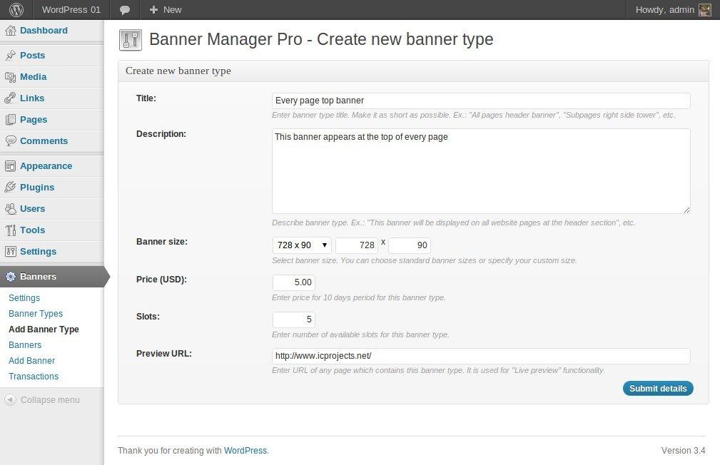 1ff7910745cdf0 Banner Manager for WordPress by halfdata