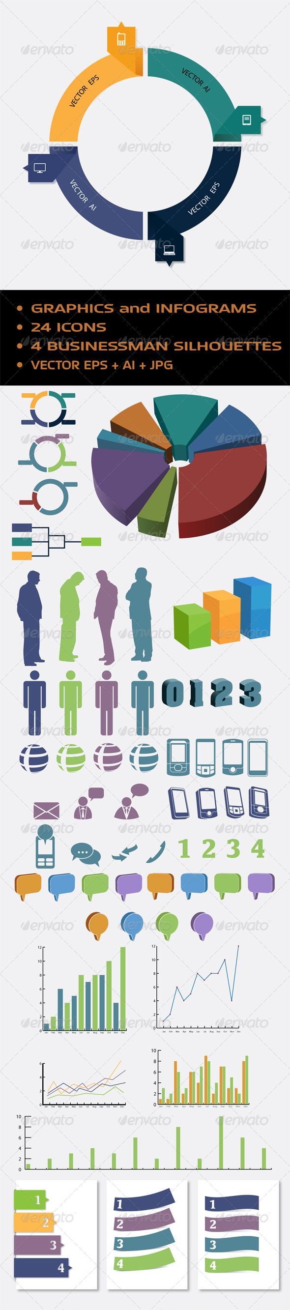 Abstract Infogram - Infographics