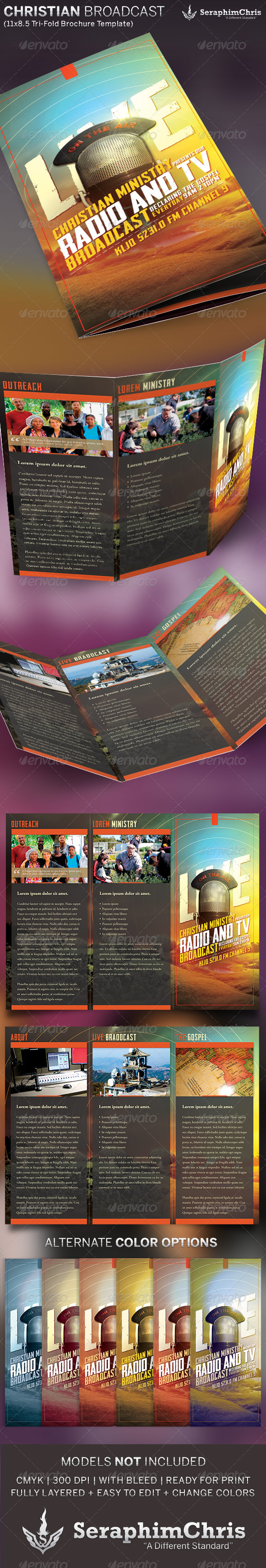 Christian Radio Ministry Brochure Template - Informational Brochures