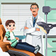Kid in Dentist Office - GraphicRiver Item for Sale