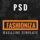 Fashioniza - Ultimate Fashion Magazine PSD - ThemeForest Item for Sale