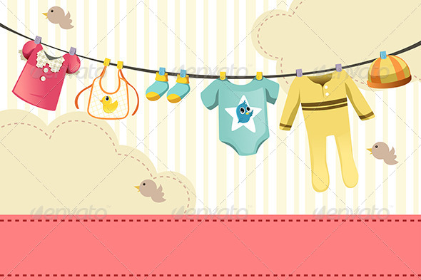 Baby Clothing - Objects Vectors