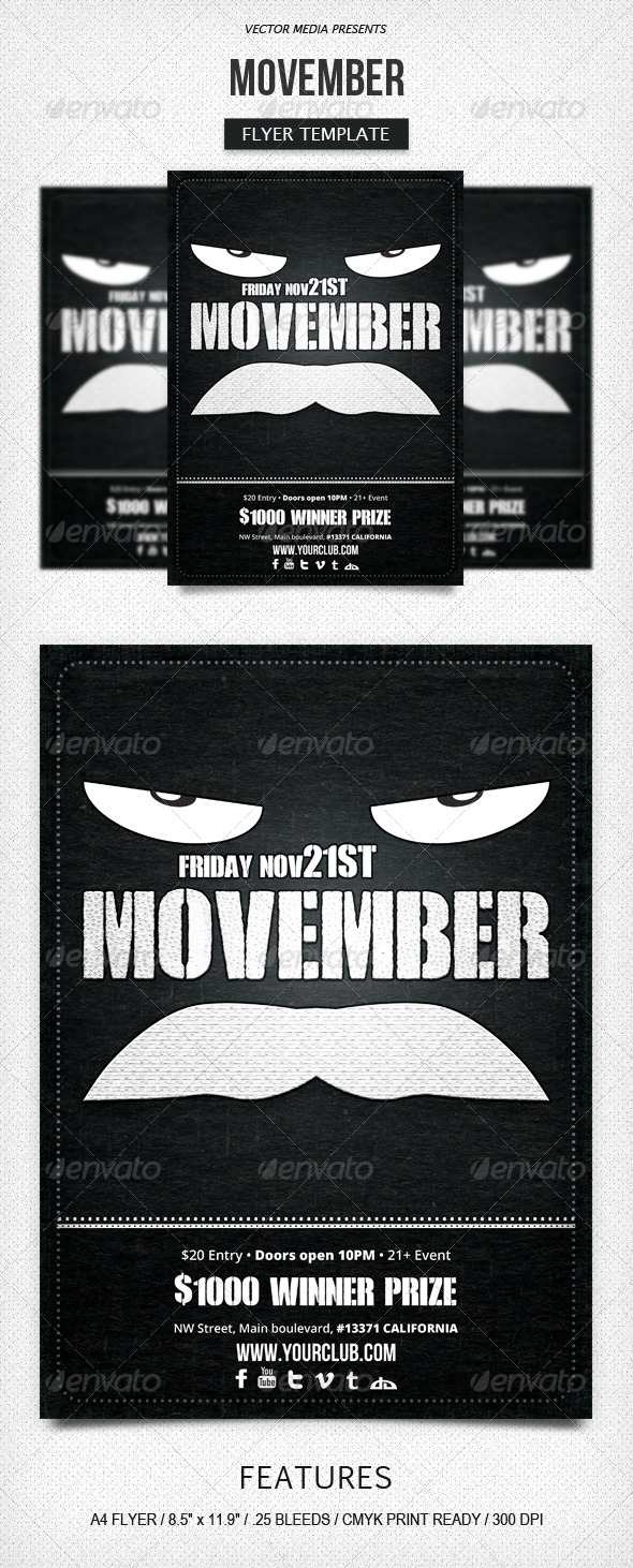 Movember - Flyer - Clubs & Parties Events