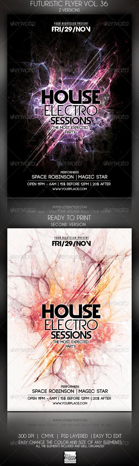 Futuristic Flyer Vol. 36 - Clubs & Parties Events