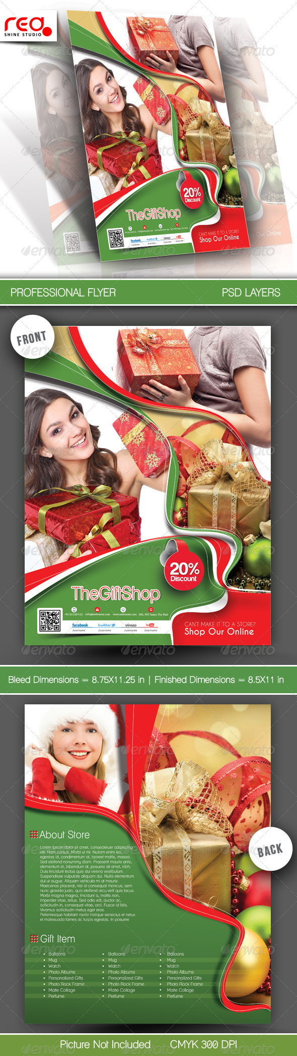 Gift Shop Flyer Poster Template - Commerce Flyers