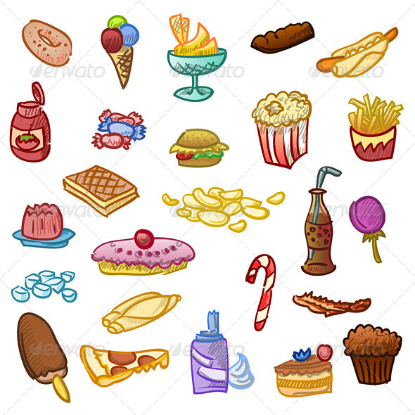 Unhealthy Food - Food Objects