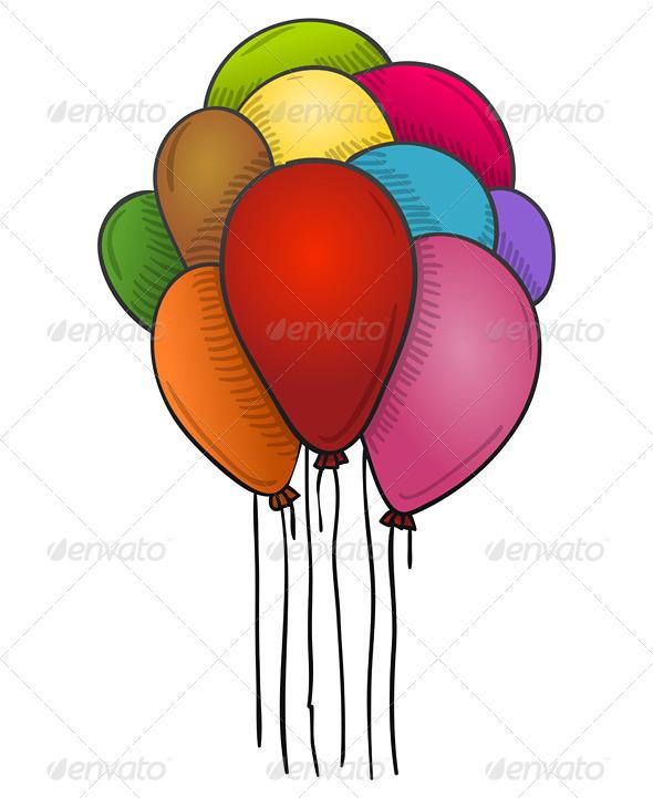 Floating Balloons - Birthdays Seasons/Holidays
