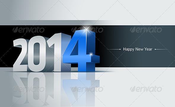 Year 2014 Greeting Card - New Year Seasons/Holidays