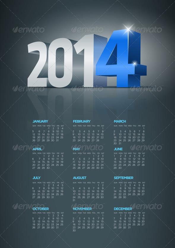 Year 2014 Calendar - New Year Seasons/Holidays