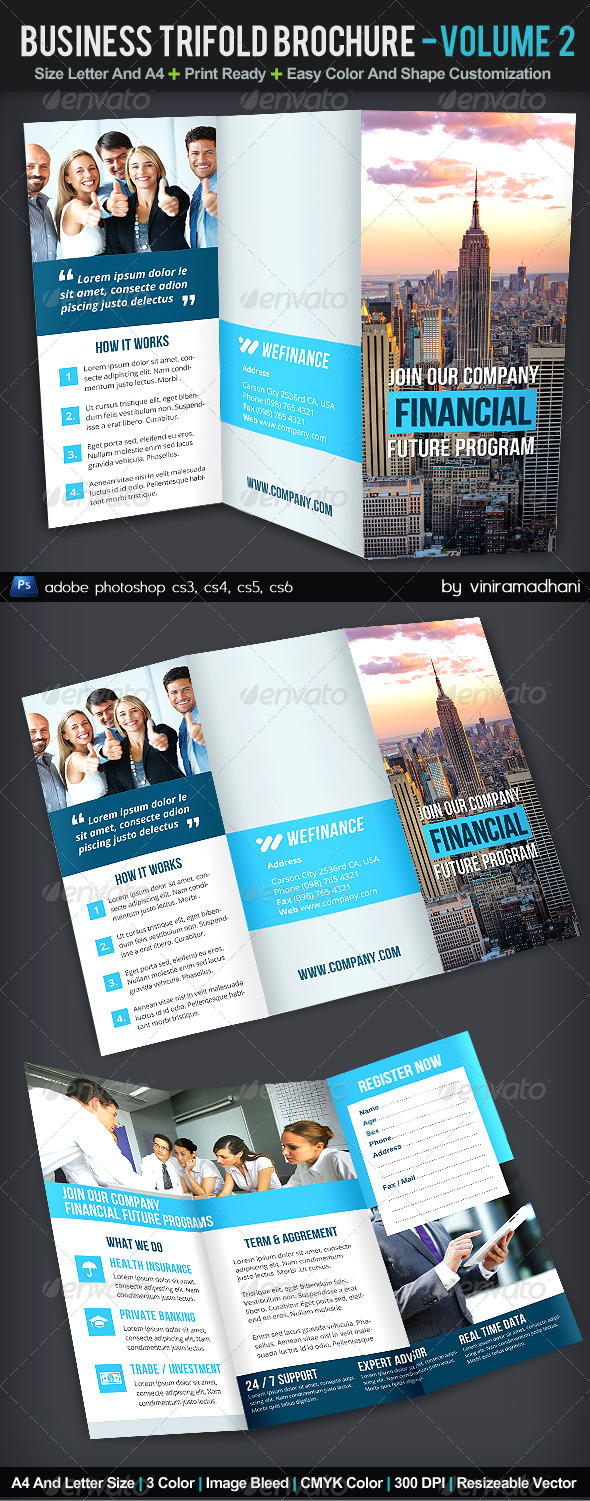 Business TriFold Brochure | Volume 2 - Corporate Brochures