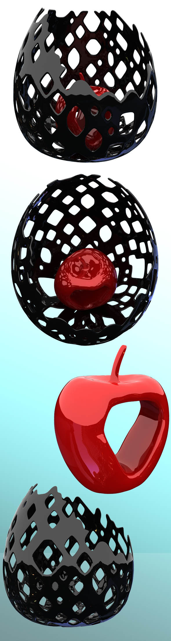 Apple in a vase - 3DOcean Item for Sale