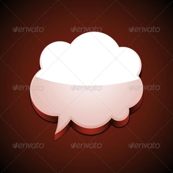 Cloud Speech Bubble - Miscellaneous Vectors