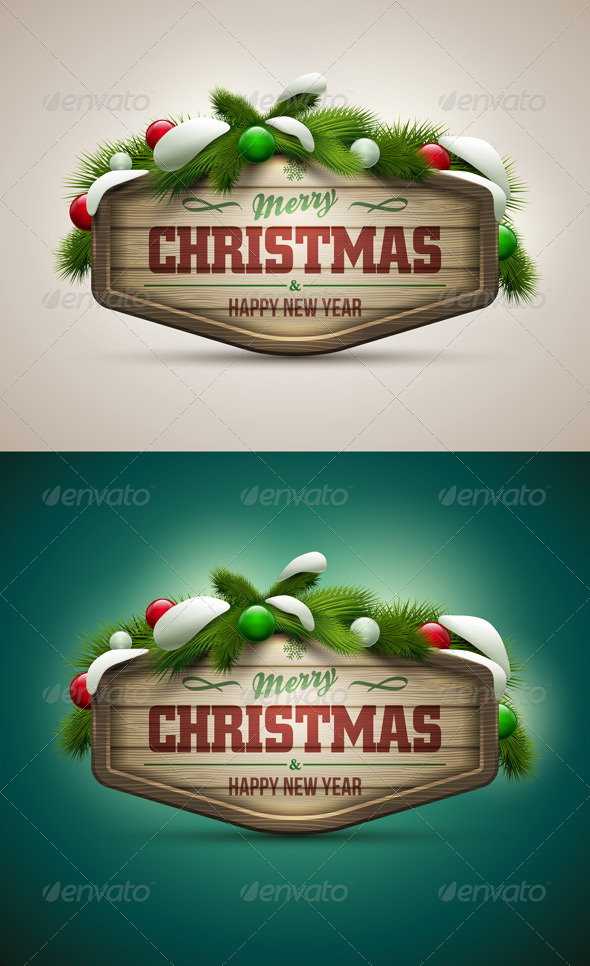 Wooden Christmas Message Board - Christmas Seasons/Holidays