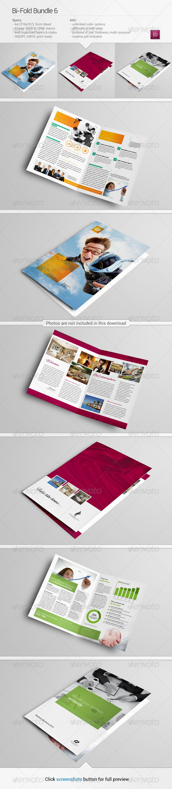Bi-Fold Bundle 6 - Corporate Brochures