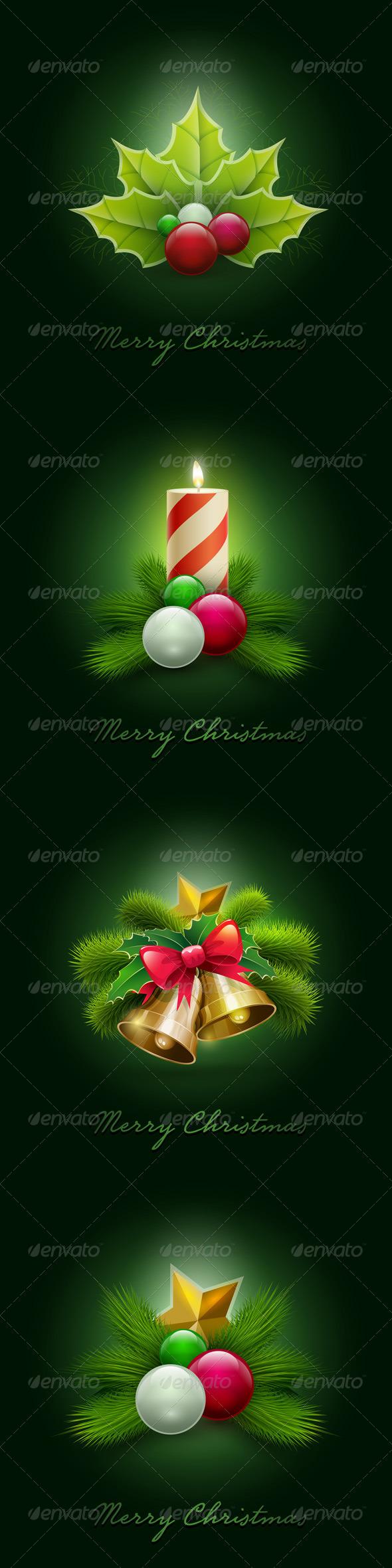 Christmas Ornaments Set - Christmas Seasons/Holidays