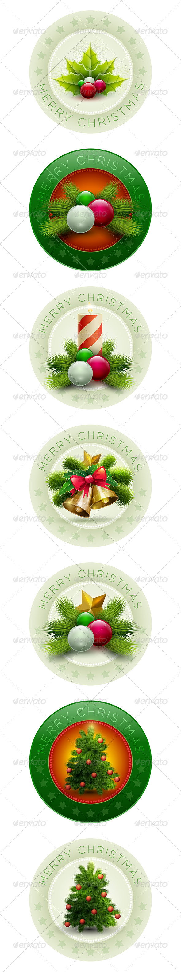 Christmas Badge Collection - Christmas Seasons/Holidays