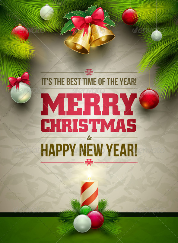 Christmas and New Year Poster - Christmas Seasons/Holidays